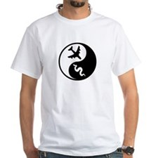 Yin Yang Snakes on a Plane White T-shirt