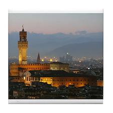 Florence at Night Tile Coaster