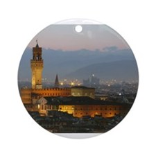 Florence at Night Ornament (Round)