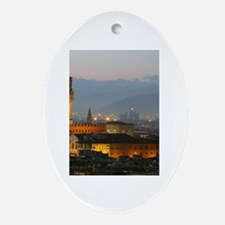 Florence at Night Ornament (Oval)