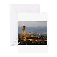 Florence at Night Greeting Card