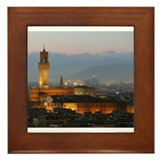 Florence at Night Framed Tile