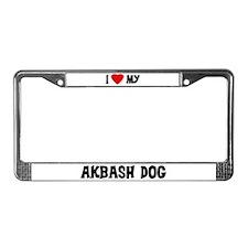 I Love My Akbash Dog License Plate Frame