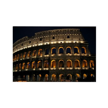 Colosseum at Night Rectangle Magnet