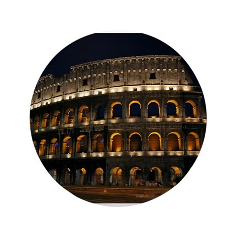 "Colosseum at Night 3.5"" Button"