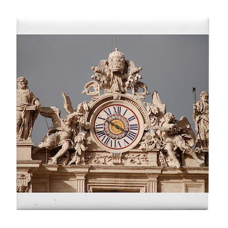 St. Peter's Basilica Clock Tile Coaster