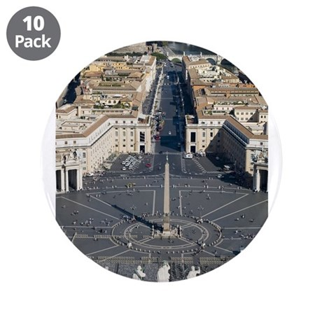 """St. Peter's Square 3.5"""" Button (10 pack)"""