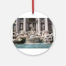 Trevi Fountain Ornament (Round)
