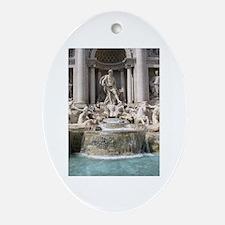 Trevi Fountain Ornament (Oval)