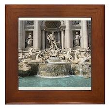 Trevi Fountain Framed Tile