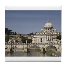 Vatican over the River Tile Coaster