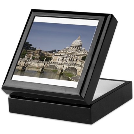 Vatican over the River Keepsake Box