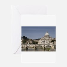 Vatican over the River Greeting Card