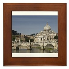 Vatican over the River Framed Tile