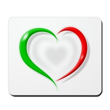 Italian Flag Heart Mousepad