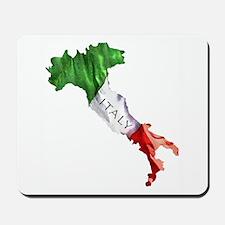 Italian Flag Map Mousepad