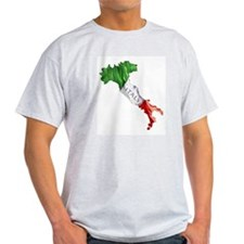 Italian Flag Map T-Shirt