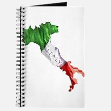Italian Flag Map Journal