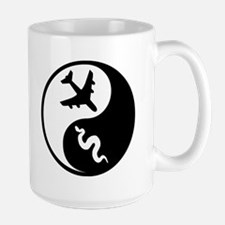 Yin Yang Snakes on a Plane Mug