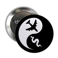 Yin Yang Snakes on a Plane Button