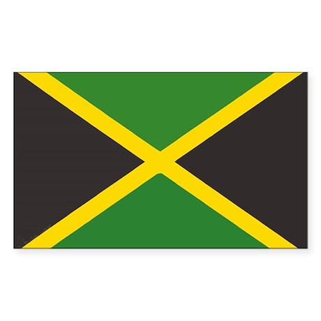 Jamaican Flag Rectangle Sticker