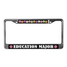 Education Major License Frame