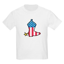 Patriotic Boot Kids T-Shirt