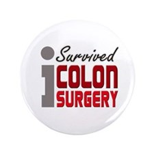 "Colon Surgery Survivor 3.5"" Button"