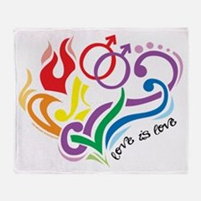 Love Is Love: Gay Throw Blanket