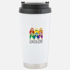 Love Is Love: Penguins Stainless Steel Travel Mug