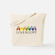 Love Is Love: Penguins Tote Bag
