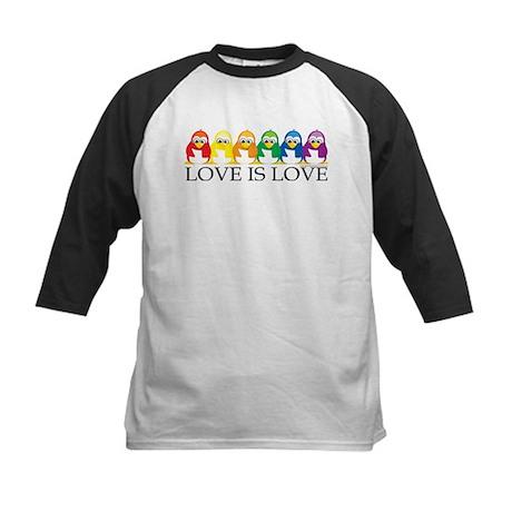 Love Is Love: Penguins Kids Baseball Jersey