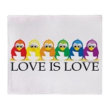 Love Is Love: Penguins Throw Blanket