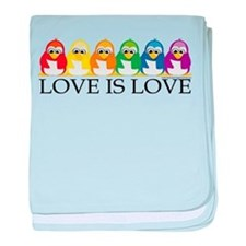 Love Is Love: Penguins baby blanket