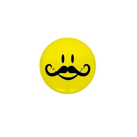 Handlebar Smiley Mini Button (10 pack)