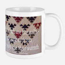 Friends are like quilts Mug
