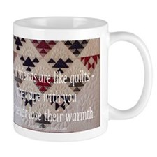 Friends are like quilts Small Mugs