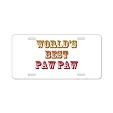 World's Best Paw Paw Aluminum License Plate