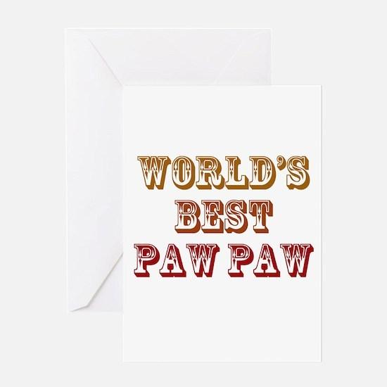World's Best Paw Paw Greeting Card