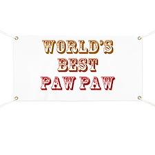 World's Best Paw Paw Banner