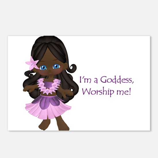 I'm a goddess (ethnic) Postcards (Package of 8)