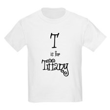 T Is For Tiffany Kids T-Shirt