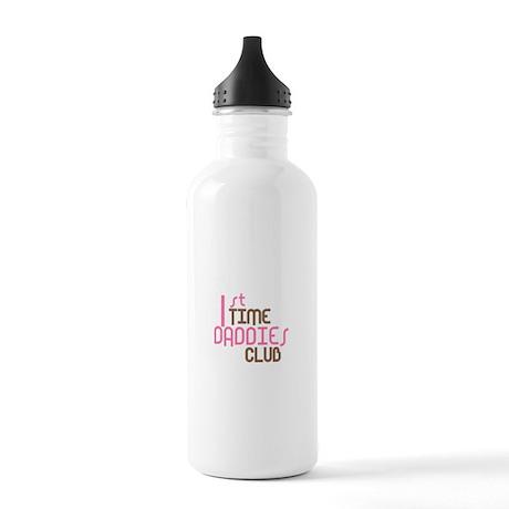 1st Time Daddies Club (Pink) Stainless Water Bottl