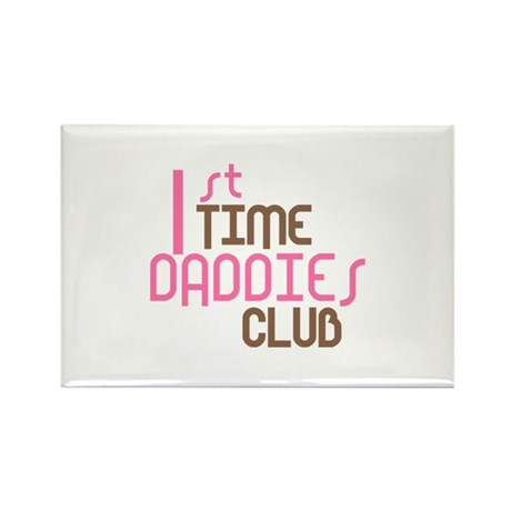 1st Time Daddies Club (Pink) Rectangle Magnet (10