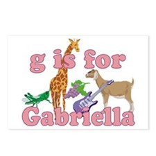 G is for Gabriella Postcards (Package of 8)