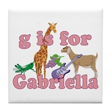 G is for Gabriella Tile Coaster