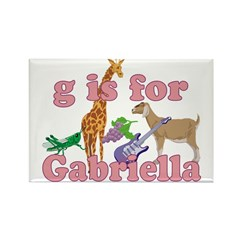 G is for Gabriella Rectangle Magnet (10 pack)