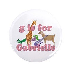 "G is for Gabrielle 3.5"" Button"