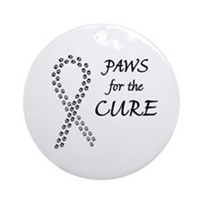Black Paws Cure Ornament (Round)