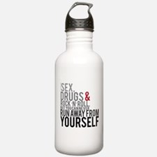 Can't run away from yourself Water Bottle